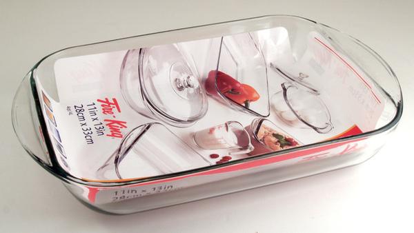 玻璃烤盤4L 28x33 cm