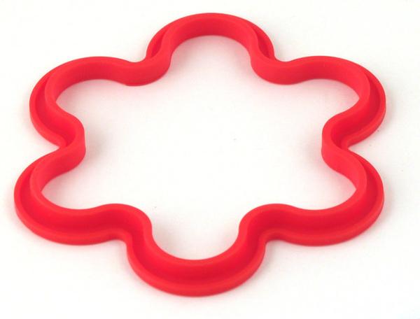 紅色矽膠花朵造型鬆餅模