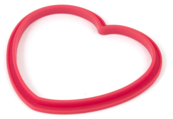 紅色矽膠愛心造型鬆餅模