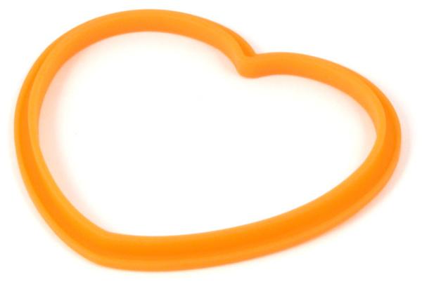 橘色矽膠愛心造型鬆餅模