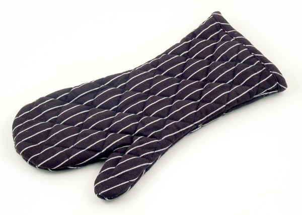 黑色白條隔熱布手套