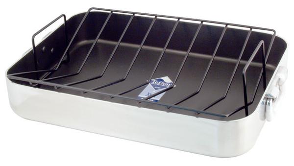 19x14吋鋁製不沾烤盤連架(大)
