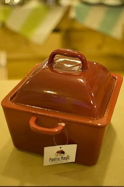 20cm紅色方型鑄鐵烤鍋