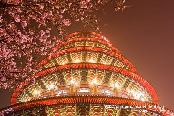 天元宮拍夜櫻也是挺美的(2011淡水天元宮探花況)20110306.jpg