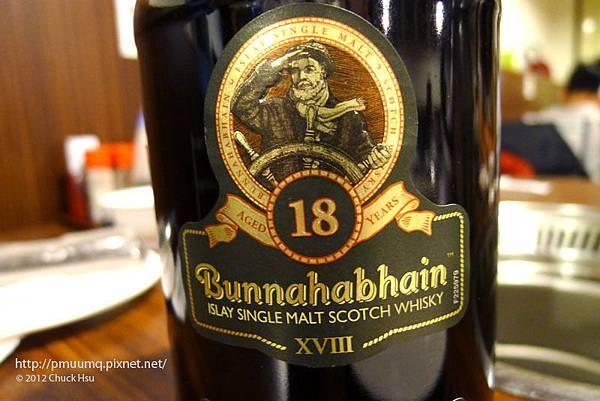 Bunnahabhain蘇格蘭布納哈本18年單一純麥(吉林路燒肉燒日式燒烤)