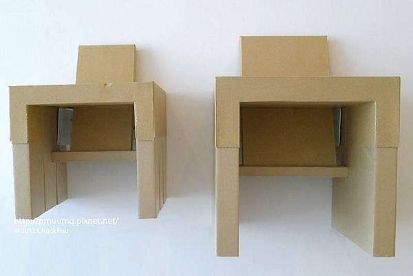 DIY角紙管兒童椅 再生紙 也可製成堅固的椅子(物的八分目設計展)