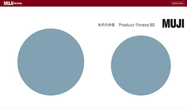 無印良品 物的八分目設計展 Product fitness80