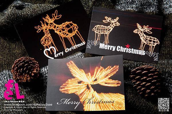 聖誕明信片 下:象徵著光明之路的『光之鹿』 左:相親相愛的『愛之鹿』 右:好朋友懷念不如相見的『友情之鹿』 光之鹿皆為攝影作品呦~ 限量發行~
