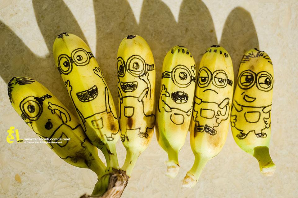 『塗鴉』Minions暴走的小小兵,進擊的芭吶吶banana