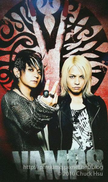 L'Arc~en~Ciel的hyde (主唱) 與Oblivion Dust的K.A.Z(吉他手) 兩人所組成的VAMPS--VAMPS LIVE 2010 BEAST WORLD TOUR.jpg