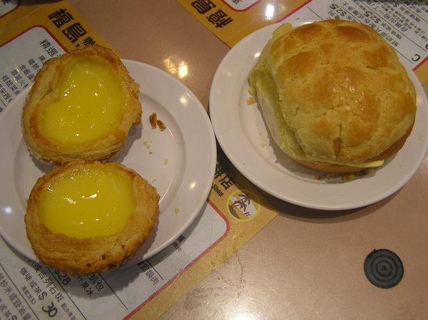 蛋撻&菠蘿油@中環檀島咖啡