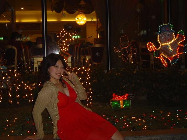 我是要照後面的聖誕節裝飾..好像看不到
