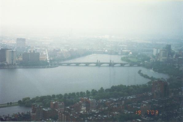 俯看波士頓市區!