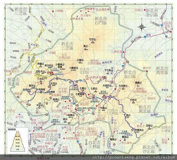 陽明山國家公園簡圖1