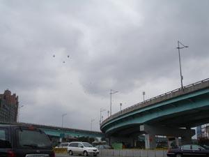國慶的天空