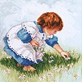 Collecting Daisies by Nancy Cole