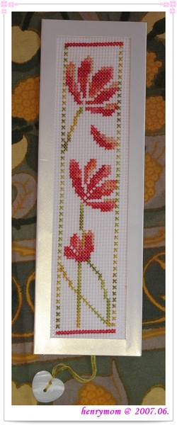 Bookmark with DMC Color Variation