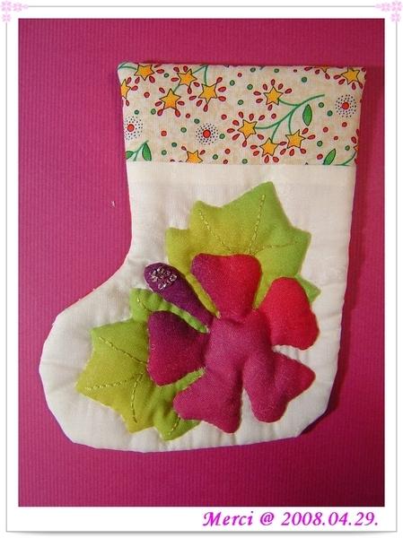聖誕襪-夏威夷拼布