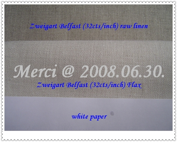 Zweigart Linen -- Belfast FLAX & Raw Linen