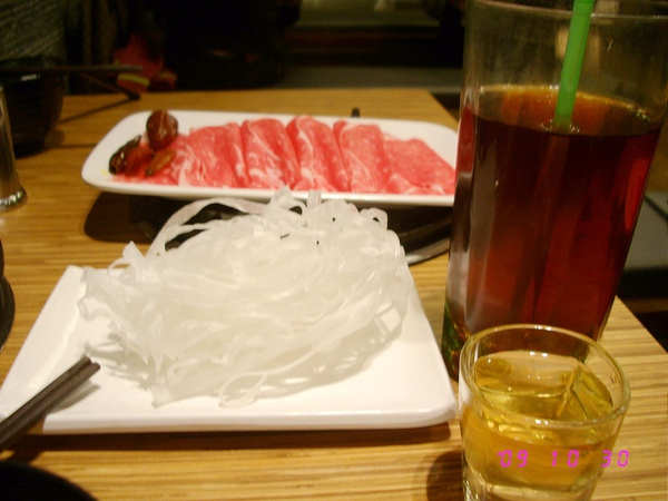 紅茶 果醋 寬粉條 牛肉