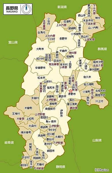 日本簡圖-長野縣