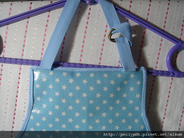 兒童防水圍裙-藍2-3