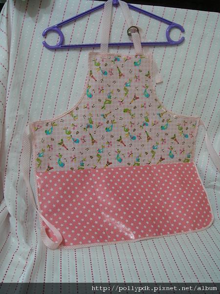兒童防水圍裙-粉1-2