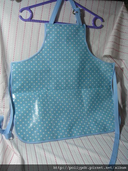 兒童防水圍裙-藍2-1