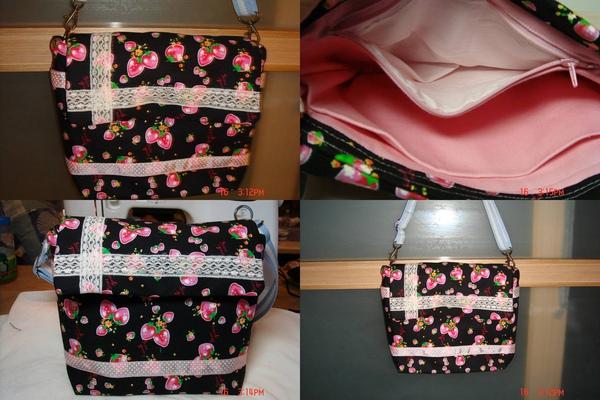 蕾絲風草莓包