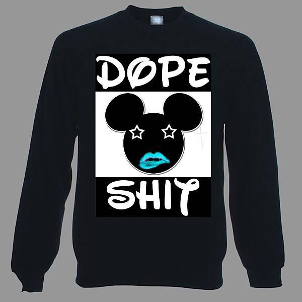 black dope shit sweatshirt-1000x1000