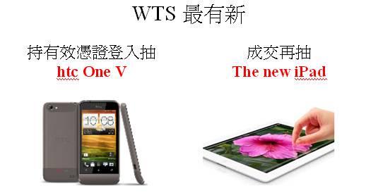 WTS抽獎獎品