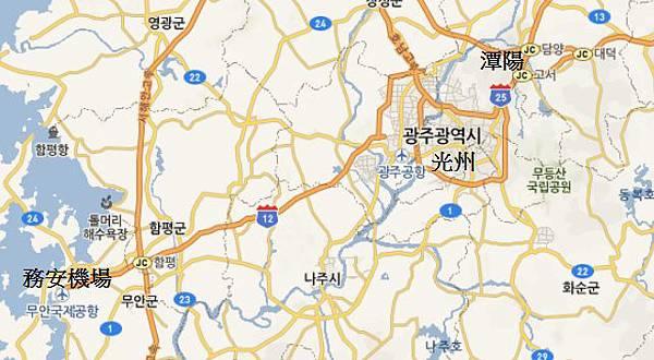 務安機場地圖