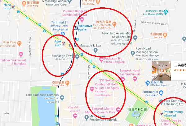 曼谷紅燈區那那站nana推薦阿索克站Asok蘇坤蔚站sukhumvit澎蓬站Phrom Phong