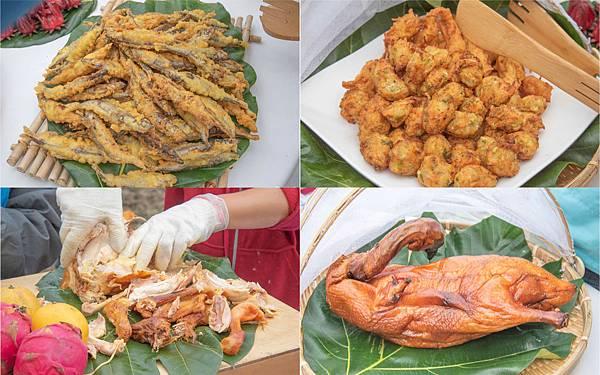 餐桌上的部落旅行稻田腳印餐桌1