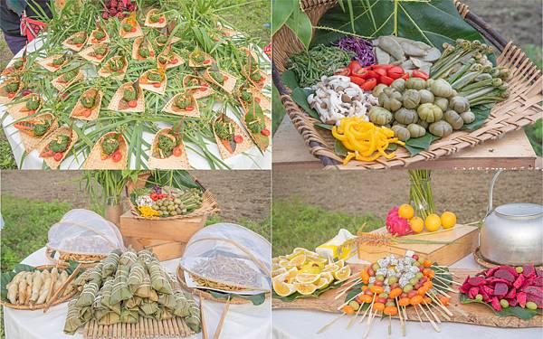餐桌上的部落旅行稻田腳印餐桌2
