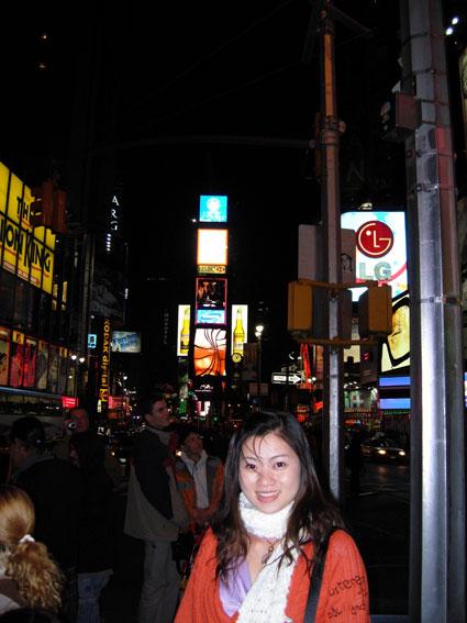 晚上的時代廣場