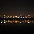 中央公園裡的夜景