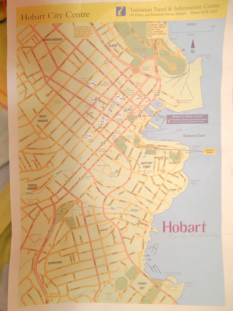 Hobart City Map