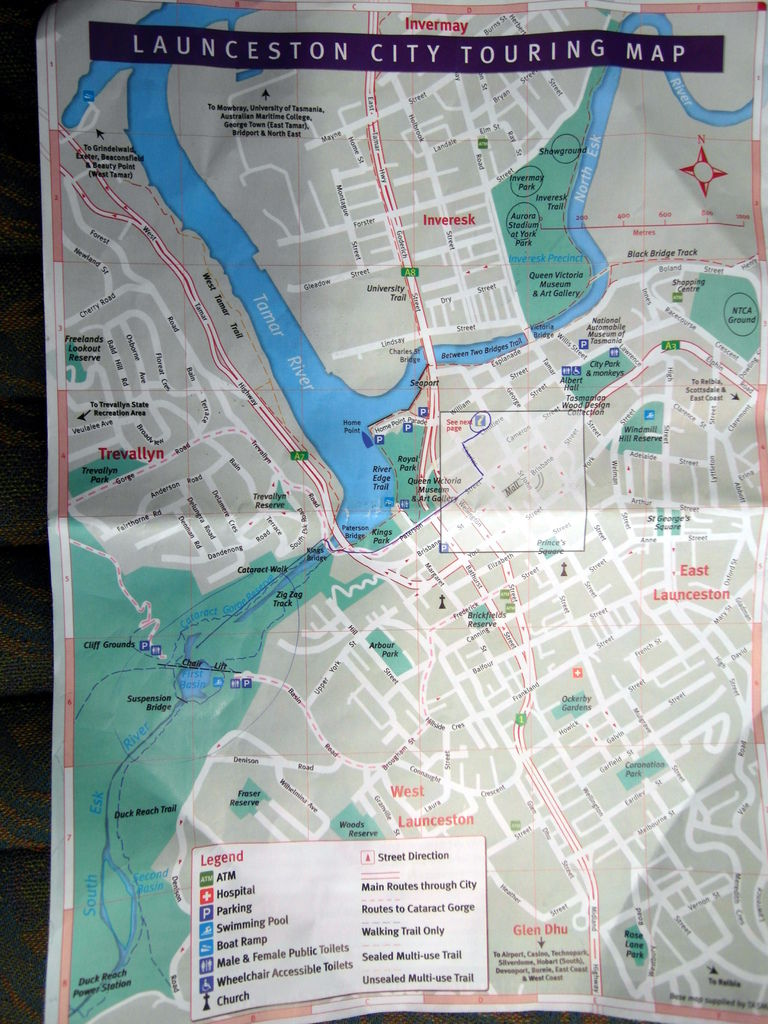 Launceston City Map arround