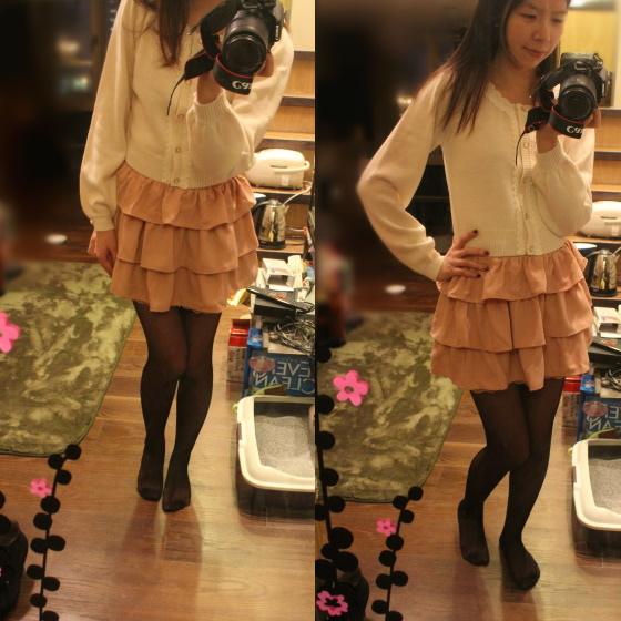 粉紅蛋糕裙