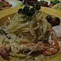 海鮮義大利麵出乎意料的好吃!超入味