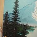 左側的長青樹