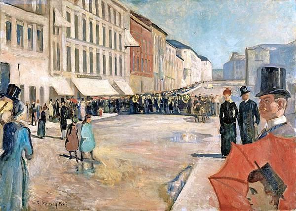 1889 Military Band on the Karl Johan Street.jpg