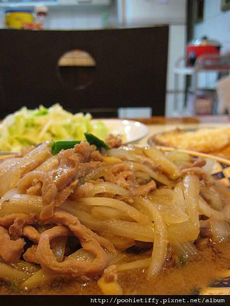 韓式洋蔥肉絲