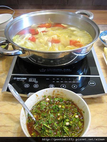蔬菜湯底火鍋