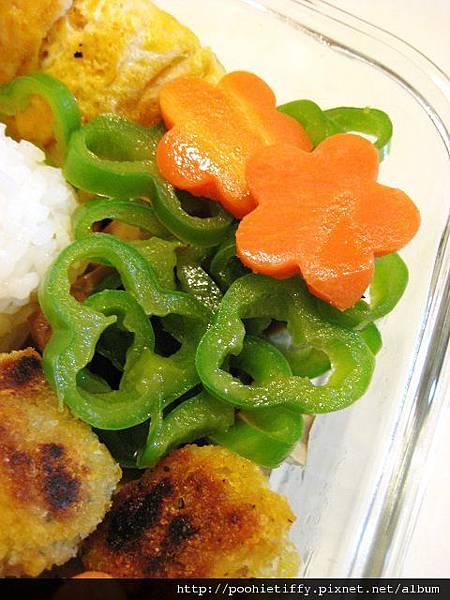 角椒配蘿蔔花