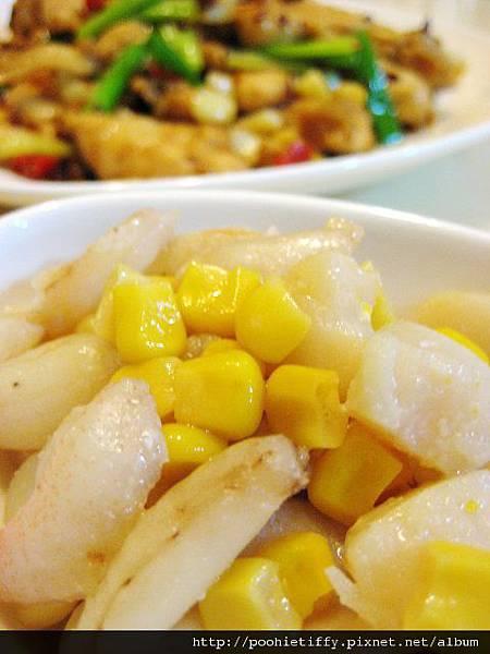 玉米蟹腳肉+干貝