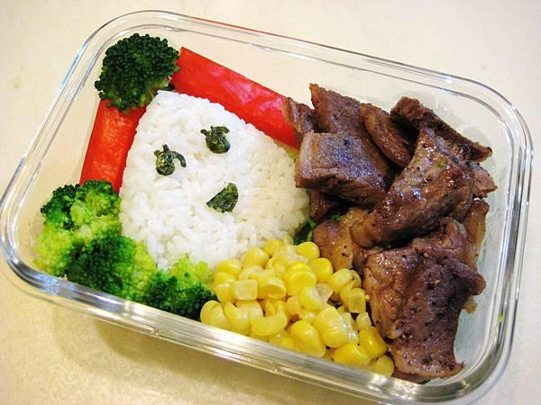 沙朗牛肉便當
