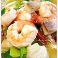 蔥油海鮮麵