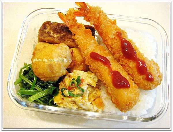 日式炸蝦便當